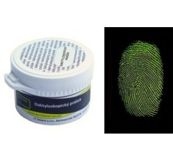 obrázek Prášek mag. fluoresc. duální černý-zelená fluorescence