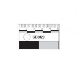obrázek Měřítko plastové fotomakro, černobílé, 5 cm
