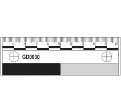 obrázek Měřítko plastové fotomakro, 10 cm