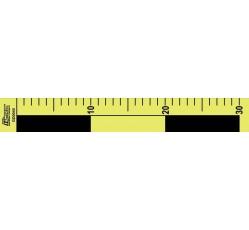 obrázek Měřítko plast. oboustranné, žlutočerné, 30 cm