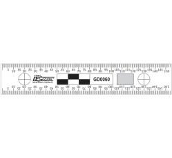 obrázek Měřítko plast. oboustranné trasologické, 15 cm
