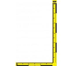 obrázek Měřítko plast. oboustr. žl. černé, skládací, 30x60 cm