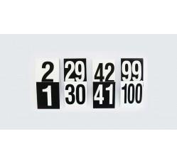 obrázek Čísla plast. 1-100 (5x8 cm) oboustranná v sáčku