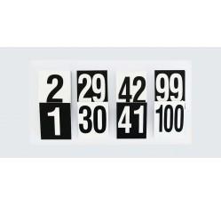 obrázek Čísla plast. 1-100 (8x10 cm) oboustranná v sáčku
