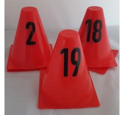 obrázek Kužele evidenční s čísly 1-20, červené