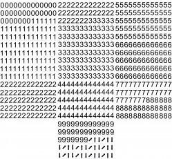 obrázek Čísla 2x4 cm, samolepicí 0-9