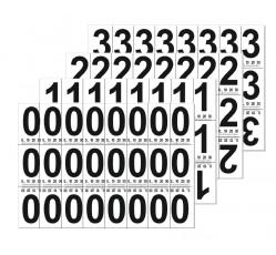 obrázek Čísla 3x7 cm s měřítkem, samolepicí 0-9