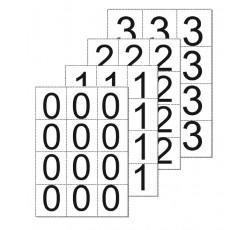 obrázek Čísla 6,5x7 samolepicí 0-9