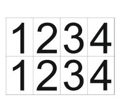obrázek Čísla 10x7 samolepicí 1-4