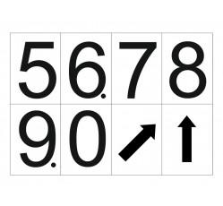 obrázek Čísla 10x7 samolepicí 5-0 a šipky