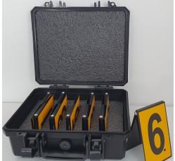 obrázek Čísla reflexní plechová 1-10 v kufříku