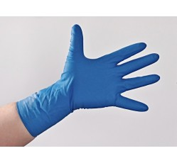 obrázek Rukavice latexové forenzní, modré, nepudrované