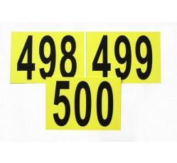 obrázek Sada čísel, 1-500, žlutá, vel. A4 na šířku