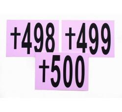 obrázek Sada čísel pro zemřelé, 1-500, vel. A4 na šířku