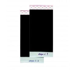 obrázek Adhezní fólie s pozadím a možností popisu, 5x10 cm