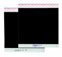 obrázek Adhezní fólie s pozadím a možností popisu,10x10 cm