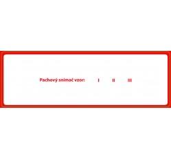 obrázek Štítek samolepicí na pachovou konzervu, červený, Snímač, 15x5 cm