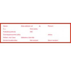 obrázek Štítek samolepicí na pachovou konzervu, červený, Osoba, 20x5,5 cm
