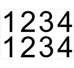 obrázek Čísla 10x7 samolepicí